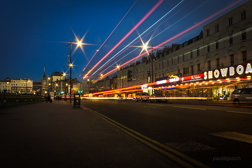 Light trails on the seafront [Explored]