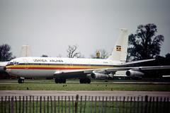 N794RN Boeing 707-321C Uganda Airlines (pslg05896) Tags: n794rn boeing707 ugandaairlines stn egss stansted