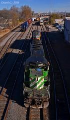 "MNA Locomotives in Kansas City, MO (""Righteous"" Grant G.) Tags: bn burlington northern railroad railway up union pacific mna missouri arkansas kansas city train trains emd locomotive power manifest freight yard"