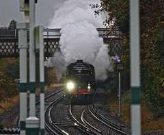 Wet and Tornadic! (Deepgreen2009) Tags: norbury framed steam train railway station posts tornado rain pullman a1 uksteam