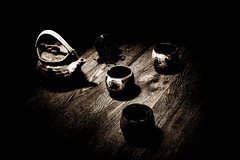 Forgotton Love (Light canvas) Tags: tea set teaset still life stilllife mono monochrome sepia sepiatone blackandwhite lightroom lightcanvas lightpaint lightpainting paintingwithlight antique vintage