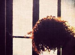 DSC_6361 (dina.elle) Tags: capelli profilo woman donna ricciola controluce ricci rosso rossa finestra beauty bellezza sensual sensuality quadro ritratto pensiero riflessione vetro intensit