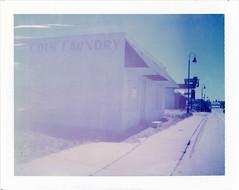 Santa Rosa, NM (moominsean) Tags: polaroid 190 instant type681 expired062000 newmexico santarosa coinlaundry desert route66