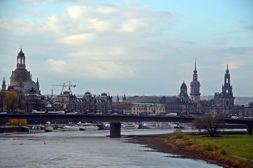 Blick zur Dresdner Altstadt