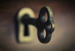 Under Lock and Key (scottnj) Tags: macro macrophotography key keyhole dof shallowdepthoffield scottnj 349366 cy365 365project redditphotoproject reddit365 scottodonnellphotography