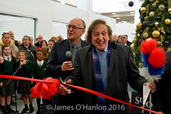 Just before the ribbon cutting (James O'Hanlon) Tags: ken dodd kendodd st johns market liverpool opening officially characters singing choir tickling stick malcolmkennedy stjohnsmarket event