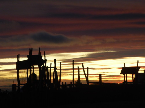 Carnoustie Playpark Sunset 14. xi. 16