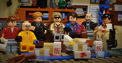 Some chinese food, some beers, a few laughs. (matthismcfly) Tags: lego brick yo coffee chinese dude tony montana scarface orange walter citizenbrick matthis mcfly lebowski tarantino dimmick donkey