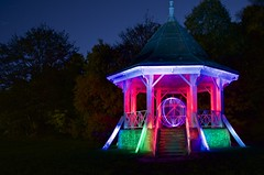Bandstand(julie) (alan and julie marshall) Tags: night bandstand colours light wands
