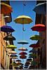 umbrellas (kkrasnall) Tags: croatia umbrela umbrellas canon l sky street art novigrad