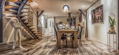 Salle a manger - Dinner room (sebastienloppin) Tags: interior design dinner room photoshop merge topaz clarity hardwork panorama 15 pics photo photooftheday bestof photographer photographe intérieur canon canonfrance 24105f4l 60d canoneos60d