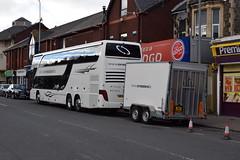 The South Tour 2016 Crossland Tour Bus JRZ 8854 (5asideHero) Tags: the south tour 2016 crossland rockstar logistics ltd setra s431 dt bus double decker band transport sleeper coach globe jrz 8854