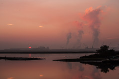 (nadiaorioliphoto) Tags: sunset tramonto sky cielo clouds nuvole pink paesaggio romagna ravenna emiliaromagna industry wetland valle