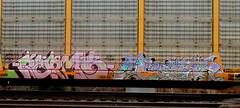 kermo - kero '05 (timetomakethepasta) Tags: kermo kier ars kero vine spade freight train graffiti art autorack benching new york selkirk photography