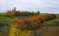 Notre-Dame de la Drche (Doonia31) Tags: glise automne couleurs ocre orange marron jaune ciel campagne vert paysage france vue tarn midipyrnes