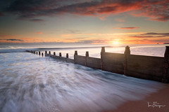 Blyth Beach ( Ian Flanagan) Tags: beach blyth groyne sunrise sand sun water sea detail seascape northumberland