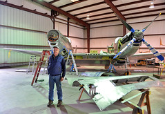 Tom Reilly - P82 Restoration (Chris Usrey) Tags: douglas ga airport p82 twin mustang restoration aviation flying
