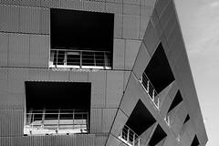 Fortress (Douguerreotype) Tags: london monochrome geometric bw blackandwhite uk british buildings mono diagonal window geometry architecture britain city gb urban england