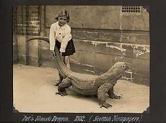 Komodo Dragon Girl (kevin63) Tags: lightner photo girl komodo dragon rescue stray old vintage antique blackandwhite 30s