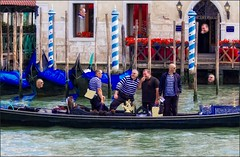 The Happy Gondoliers (canuckguyinadarkroom) Tags: italy venice venezia gondola gondolier