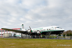 DC6 G-SIXC AirAtlantique DC6Diner 20161203 Coventry (steam60163) Tags: dc6 coventry coventryairport dc6diner