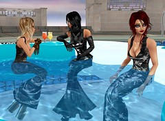 Pool Party 3 (SoakinJo) Tags: imvu wetlook wetclothes soakinjo highheels wetdress clothed pool extremeheels