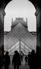 pyramide (axph-otography) Tags: pyramide louvres pyramid black white 50mm 35mm film camera argentique monochrome architecture ilford hp5 plus nikkon nikkormat