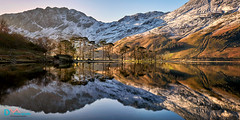 Winter Reflections Buttermere (Dave Massey Photography) Tags: buttermere lakedistrict cumbria reflections pines haystacks mountains snow winter serene calm peaceful