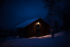 4am, -9°F. (aamith) Tags: nature cold utah cabin snow 35mm night landscape winter