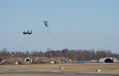 The Baltic Regional Training Event (BRTE) 1 april 2014, Siauliai Air Base, Lithuania (Sergey Melkonov) Tags: training eagle sony air baltic event boeing region base nato spartan sentry siauliai 2014 awacs gripen f15c jas39 c27j e3a a99 brte melkon