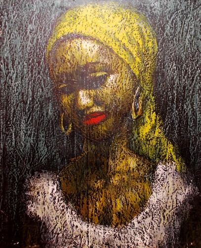 MOMENT OF REFLECTION,2012 BY NELSON OKOH, OIL ON CANVAS 36X46 INCHES. N270,000