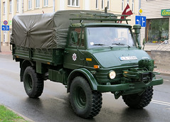 Latvian Army Unimog (Observe The Banana) Tags: army latvia 1201 unimog