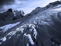 Glaciers of Saas Fee - Switzerland (tigrić) Tags: blue mountain ice switzerland spring melting glow glacier globalwarming saasfee スイス