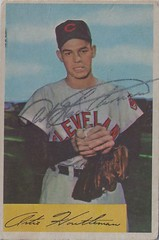 1954 Bowman - Art Houtteman #20 (Pitcher) (b: 7 Aug 1927 - d: 6 May 2003 at age 75) - Autographed Baseball Card (Cleveland Indians) (WhiteRockPier) Tags: auto sign vintage cards baseball graf 1954 autograph bowman signed