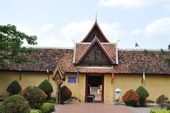 Far view of Wat Si Saket (oldandsolo) Tags: southeastasia buddhism laos touristspot chedi vientaine watsisaket buddhistshrine laopdr religiousshrine laoscapital buddhistreligion buddhistfaith