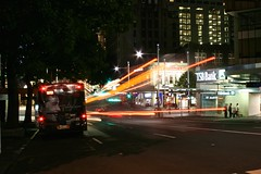 Wellesley Street (Brian Aslak) Tags: street light newzealand motion night noche auckland cbd nuit  wellesleystreet aoteroa traffictrail  uusmeremaa naujojizelandija jaunzlande