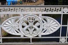 Ilmenaubrücke  - Detail vom Geländer- Lüneburg. 03 (Stefan_68) Tags: bridge germany deutschland railing brücke hanse hansestadt lüneburg niedersachsen lowersaxony geländer brückengeländer hanseaticcity bridgerailing