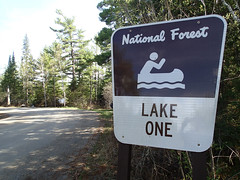 Lake One trailhead east of Ely on Highway 169