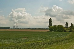 (KirstenDeLaet) Tags: trees summer sun field clouds bomen wolken zomer land farmer juli zon 2014 akker pentaxk10d landbouwer sigma1770mmf284 ©kirstendelaet