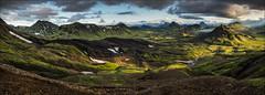 [ ... fjallabak ] (D-P Photography) Tags: sunset panorama lake mountains green beauty clouds canon river landscape island iceland laugavegur highlands hike nd ndgrad fjallabak sudurland alftavatn leefilters dpphotography