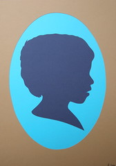 Silhouettes - A modern take on a Victorian classic (florrie.thomas) Tags: family silhouette collage illustration paper paperart child graphic commission papercut florriethomas