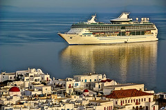 (#2.327) Mykonos /  [Explore] (unicorn 81) Tags: travel blue sea summer white holiday june juni geotagged island europe mediterranean sommer insel explore greece grecia cruiseship griechenland kreuzfahrtschiff cyclades mykonos reise mikonos 2014 splendouroftheseas greekisland mykonosgreece  mkonos kykladen explorephoto southaegean griechischeinsel  greciamikonos