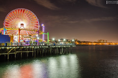 Santa Monica Pier (Edwin Chow Photography) Tags: longexposure beach wheel pier santamonica ferris socal ferriswheel santamonicapier