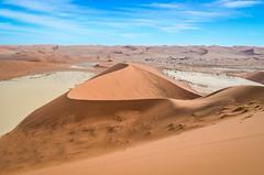 Dry salt pans in Sossusvlei, Namibia (jbdodane) Tags: africa bigdaddy day622 deadvlei desert dunes namibnaukluft namibnaukluftpark namibia sand sanddunes sesriem sossusvlei freewheelycom jbcyclingafrica