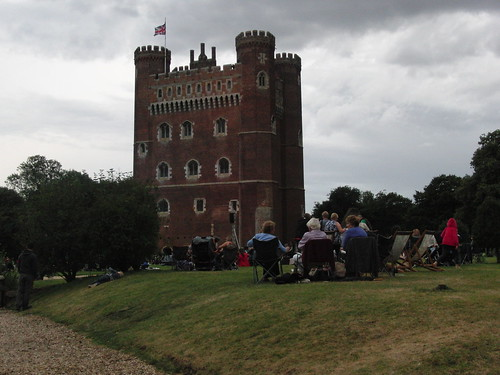 Tattershall Castle - The public enjoying their picnic and listening to the band.