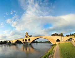 (Sur le) Pont D'Avignon, French Panorama, Cosmos 4780 (Jim_Higham) Tags: bridge summer holiday france reflection de coach europe tour song under avignon cosmos sous surlepontdavignononestdancer