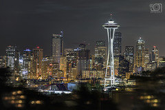 Lights of Seattle (bgspix) Tags: seattle city usa skyline canon photography lights us cityscape cities wa spaceneedle kerrypark skyscrape ef24105mmf4lisusm canoneos5dmarkiii
