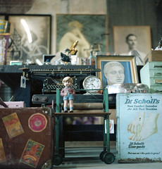 Dr.  Scholl's (~Staci Lee~) Tags: film losangeles hasselblad500cm thehours kodakportra artsdistrictflea