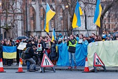 Remembering the first week of the invasion of the Crimea by Russian forces (Jordan Busson) Tags: london protest parliament ukraine vladimirputin   mh17 jordanbusson euromaidan  malaysiaairlinesflight17