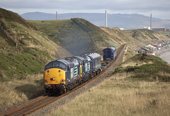 stock move (Dave McDigital) Tags: class37 37603 mk2a 37601 37602 escortcoaches kfatwinset
